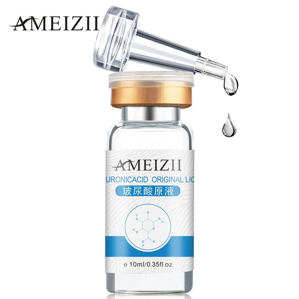 AMEIZII 10ml Ren Hyaluronsyre Flydende Hudpleje Fugtgivende Whitening Snail Repair Anti Wrinkle Cream Anti Aging Face Care