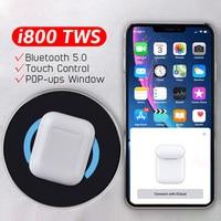 i800 TWS Pop up Separate use Wireless Earphone QI Wireless Charging 5D Super Bass i 800 tws not Arie 2 1:1 i60 i80 i100 i200 tws