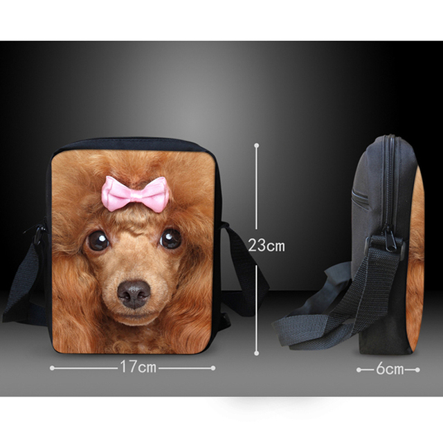 Casual 3D Dog Patterned Backpack