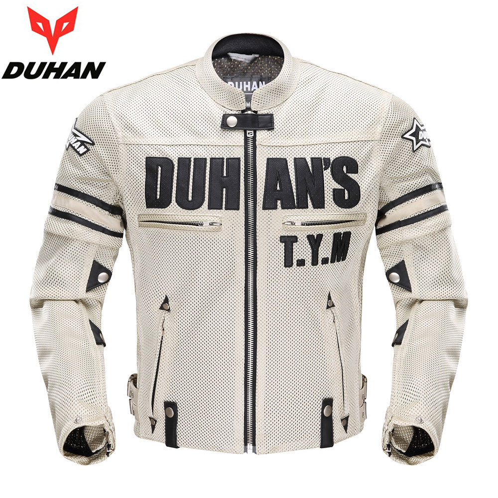 DUHAN Summer jackets Motorcycle Racing Clothing Motocross sleeve removeable Jackets Clothes Breathable Motos Suits Coats