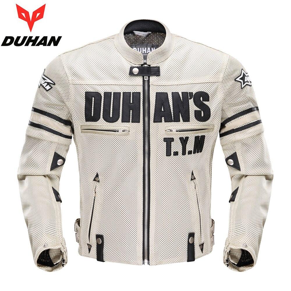 DUHAN été vestes moto course vêtements Motocross manches amovible vestes vêtements respirant Motos costumes manteaux