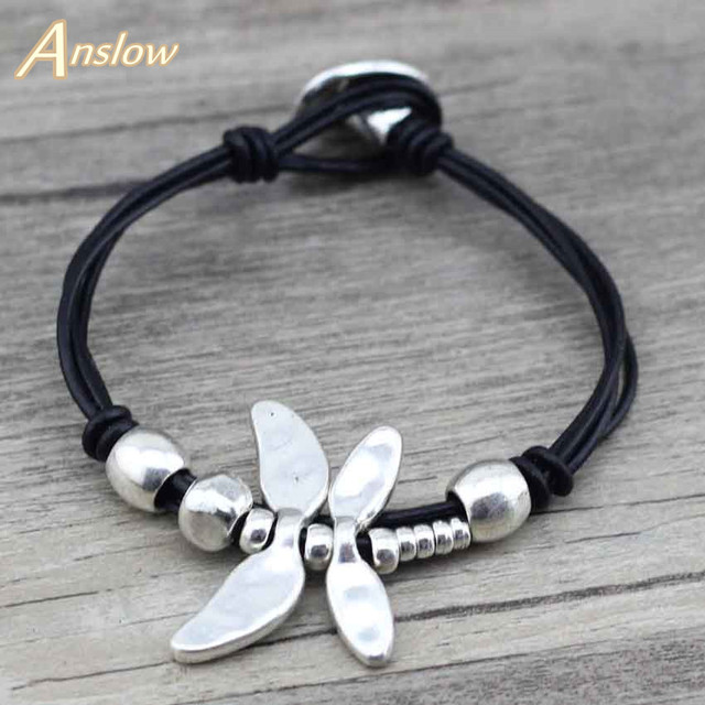 Anslow Best Selling New Hot Sale Fashion Jewelry Mens Couple Drongfly Wristband