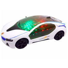 2016 New Arrival Toy Car LED 3D Music Automatic Steering Car Toy Light-up Toys Best Gift For Kids