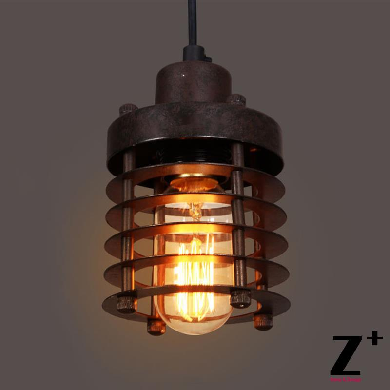 Edison bulbs Vintage wrought iron Pendant light lamp iron cage  Free shipping