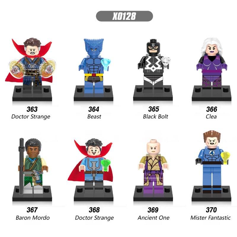 Single Sale X0128 DR. Doctor Strange Beast Doctor Strange Black Bolt Ancient One Clea Mr. Fantastic Baron Mordo Toy For Children