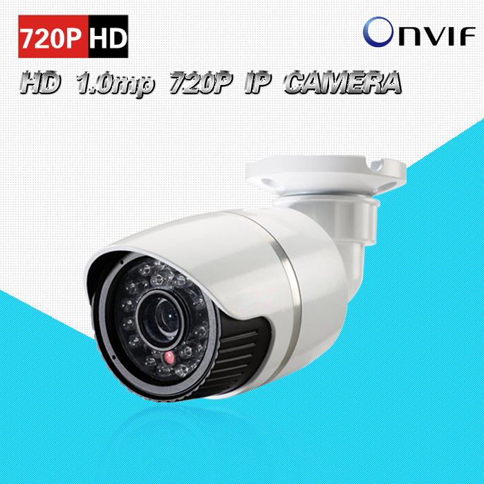 720P DWDR POE ONVIF P2p real-time outdoor waterproof IR Night Vision Surveillance CCTV 1.0mp security IP camera for NVR