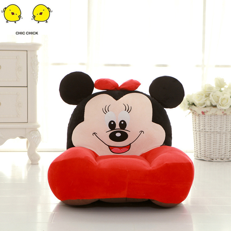 Removable Baby Chair Support Seat Plush Soft Sofa Cartoon Infant Learning To Sit Keep Sitting Posture Comfortable