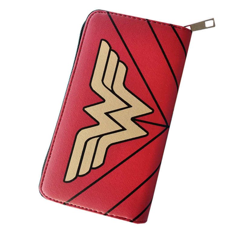 New Movies Wonder Women Joker Long Anime Women Wallets Prints Leather Clutch Cards Phone Holder Zipper Handy Purse For Girls Bag