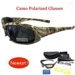 Outdoor 4 lens Tactical Camouflage Glasses daisy Airsoft Safety Tactical Goggles Windproof Goggles for Hiking Shooting