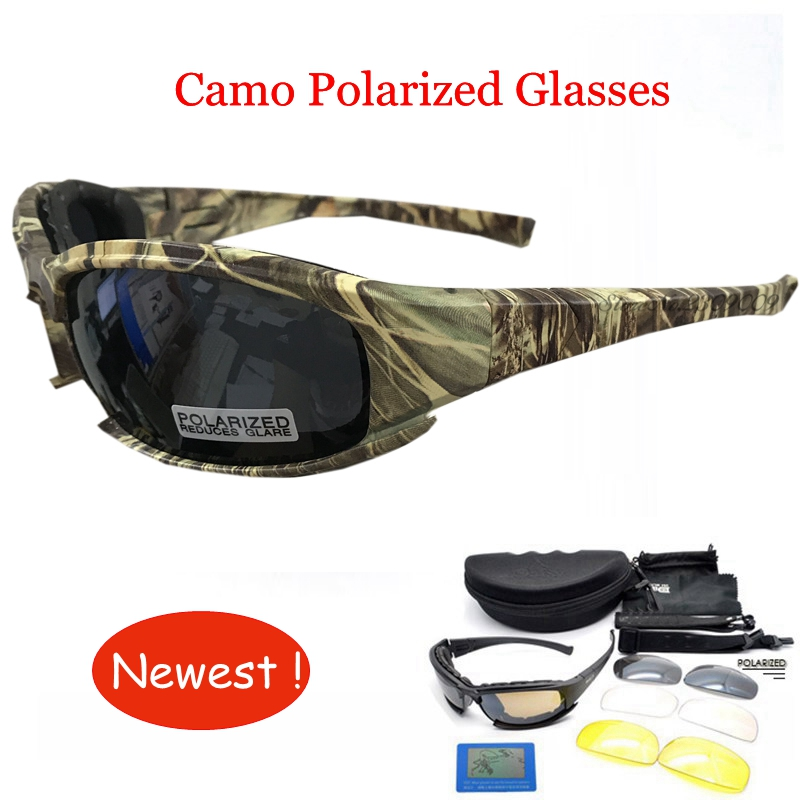 Outdoor 4 lens font b Tactical b font Camouflage Glasses daisy Airsoft Safety font b Tactical