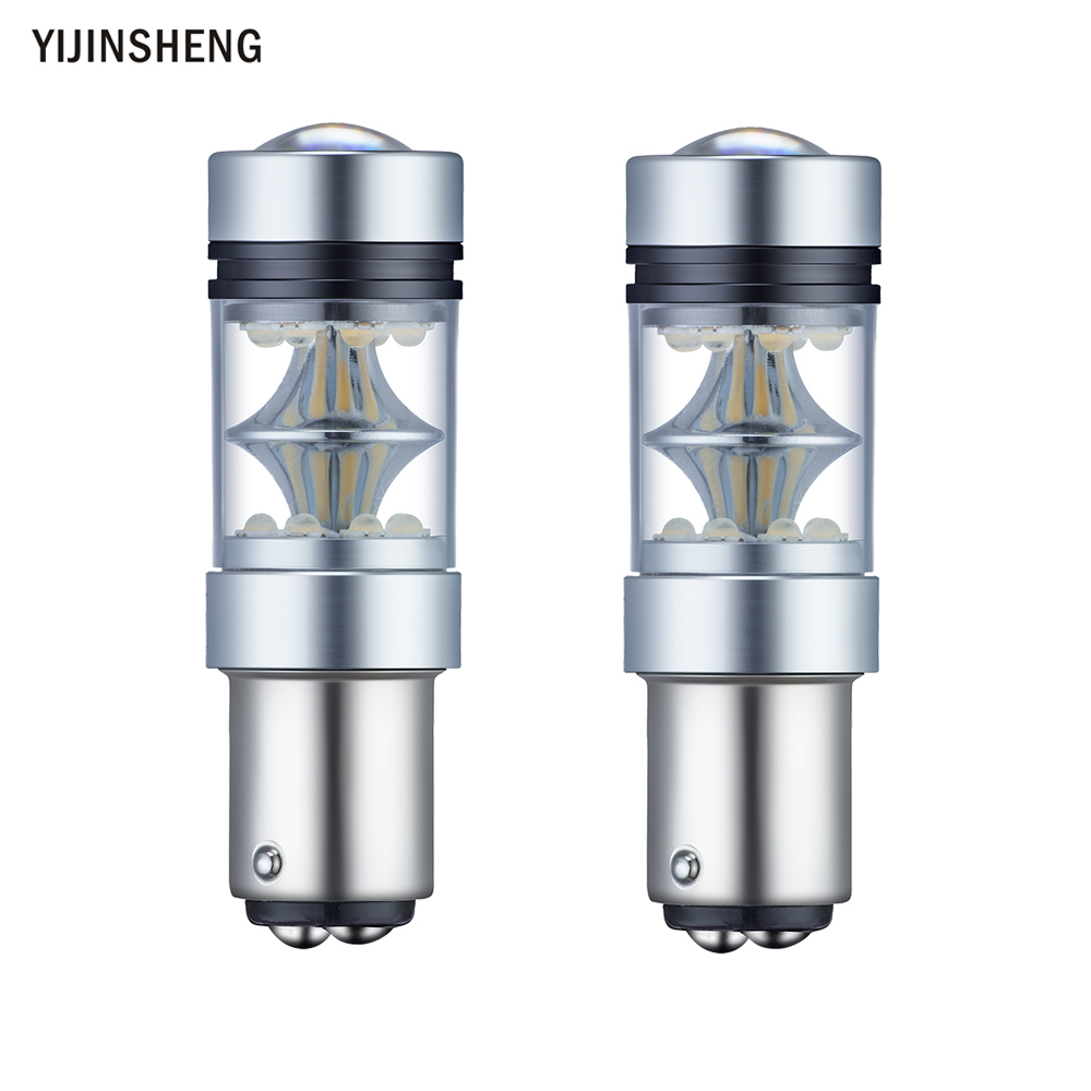 2PCS 100W CREE chip XBD BAY15D Highlight the brake lights led car taillight bulb after the fog lights turn signal conversion barefoot gen 2 the day after
