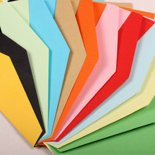 100 PCS/lot 5 Number kraft gift paper business card Envelope 220*105mm Cross Section Western Style Triangle Seal Red