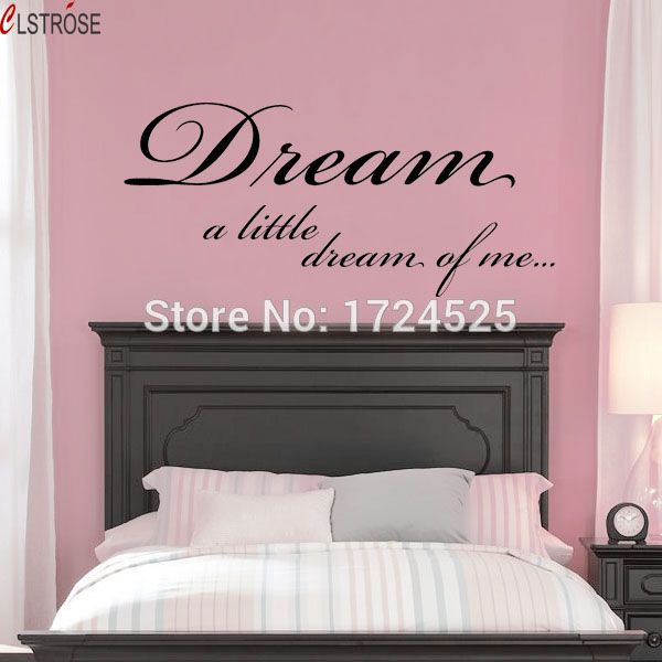 CLSTROSE Sale Modern Diy Dream A Little Of Me Bedroom Wall Stickers ...