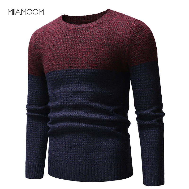 Sweater Men Pullovers Clothing Casual Spring Autumn Winter New Fashion O-neck Collars Contrast Color Casual Sweater(China)