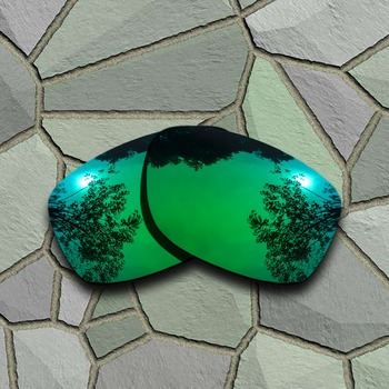 326230c027 Jade verde gafas de sol polarizadas lentes Oakley Jupiter al cuadrado