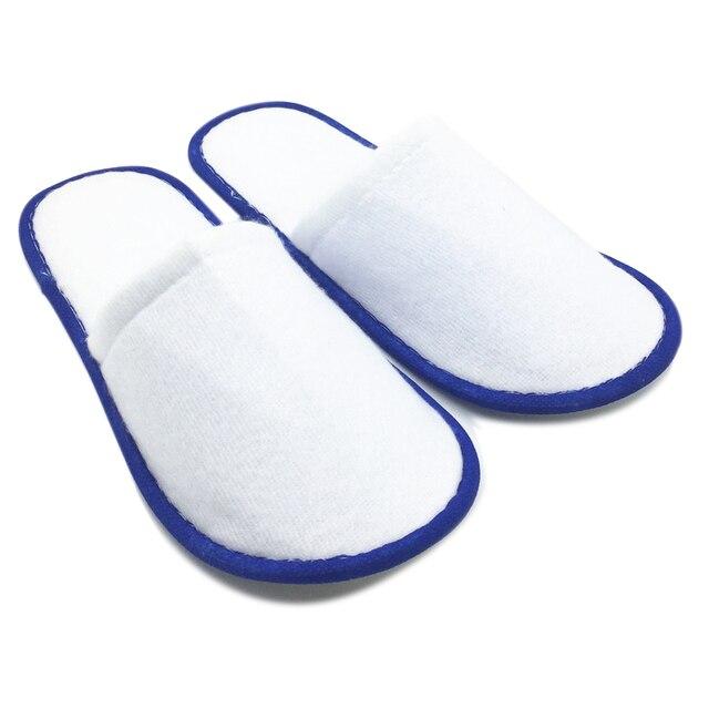 20 пар Белое Полотенце Отель Одноразовые Тапочки Махровые Спа Гостей Обувь синий