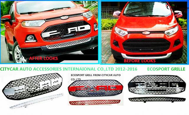 Free Shipment Ecosport Front Grill Racing Grill Grille Ecosport   Front Grill Cover For