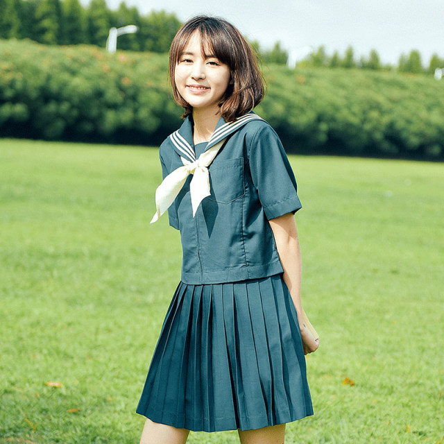 Students Short Sleeved School Uniforms Japan And South -8677