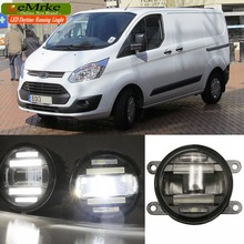 eeMrke Car Styling For Ford Transit 2006 -2015 2 in 1 LED Fog Light Lamp DRL With Lens Daytime Running Lights