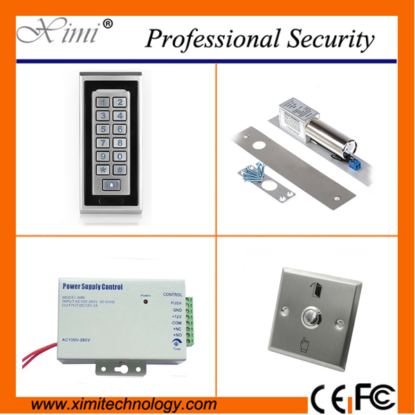 Access control system single door access control kit without ssoftware metal face standalone RFID card access control reader access control mg236b