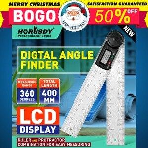 HORUSDY Digital Goniometer 8inch Electronic Digital Protractor LED Display Goniometer Precision Bevel Measuring Instrument Tools|Protractors|Tools -