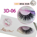 2016 New 1 pair100% handmade real mink fur long false eyelash 3D strip mink lashes thick fake faux eyelashes Makeup beauty 3D-06