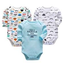 3 PCS/LOT Cute Newborn Baby Clothing Long Sleeve 100% Cotton Baby Boys Girls Clothes Baby Bodysuit Cartoon Infant Jumpsuits