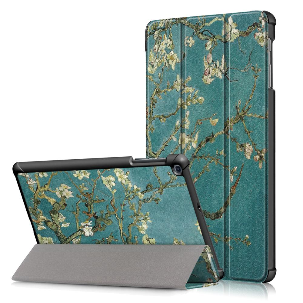 Magro Shell Case para Samsung Galaxy Tab 10.1 2019-Leve Tampa do Suporte para Samsung Galaxy Tab 10.1 polegada T510 T515 Tablet