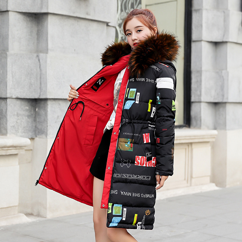 CottonCoat Women s Winter New Double sided Hooded Korean Slim Down Cotton Jacket Long Thick warm