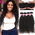 8A Malaysian Deep Wave Virgin Hair Weave Deep Wave Malaysian Hair 4 Bundles Deep Wave Virgin Hair Curly Weave Human Hair Short