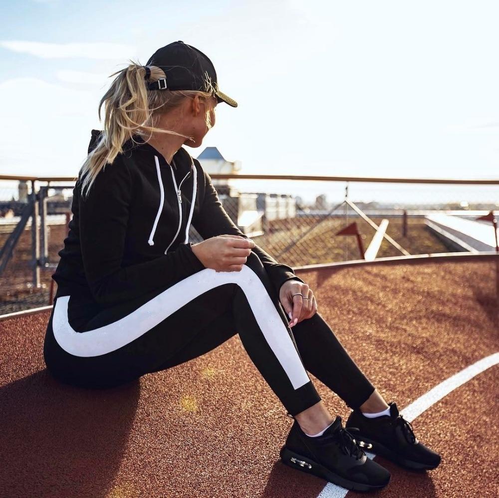 Black White Capris Sport Leggings Women Fitness Yoga Pants Athletic Leggings Tight Mallas Mujer Deportivas Gym
