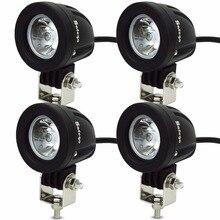 Safego 4 adet 10W LED çalışma ışığı 12V 700LM sel nokta ışın OFFROAD motosiklet tekne 4x4 ATV LED traktör çalışma ışıkları