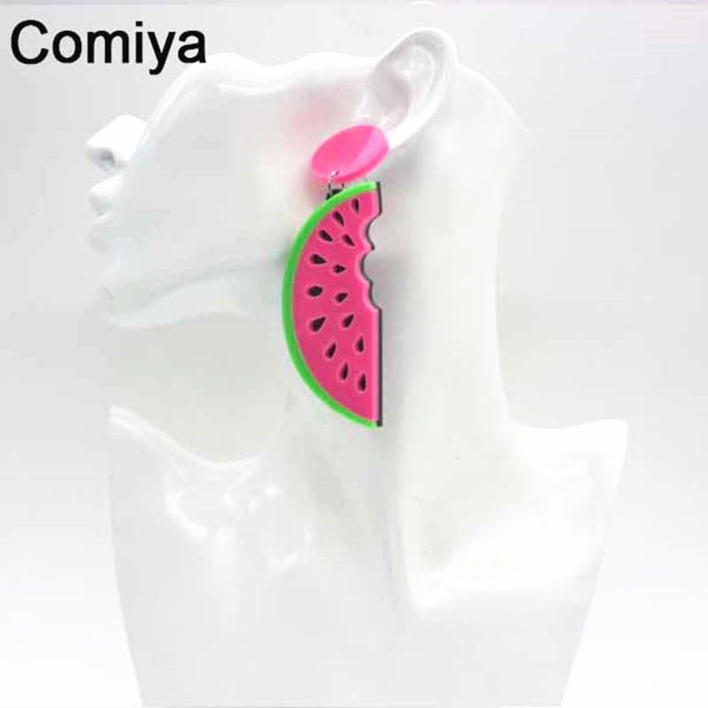 Comiya-punk-summer-fashion-Style-candy-big-Acrylic-watermelon-Shape-fruit-Female-Drop-Earrings-For-Women (2)