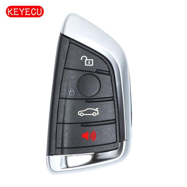 Keyecu New Uncut Remote Car Key Fob 4B 433MHz for  X5 X6 2014-2016 FCC:NBGIDGNG1