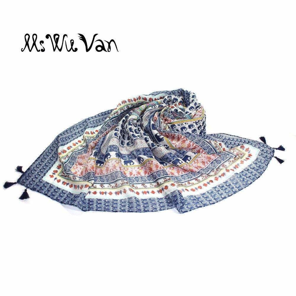 Elephant Mandala Floral Scarf From India Bohemian Women Scarves Ethnic Print Shawl Boho Blanket Pareo Beach Sarongs Hippie Tribe