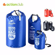 New Hiking Water Bag Ultralight Portable Outdoor Travel Rafting Waterproof Dry Bag Swim Storage Camping Equipment 5L,10L, 60L