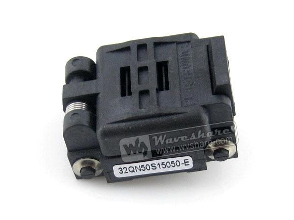 ФОТО Modules Plastronics IC Test Socket Adapter 32QN50S15050 0.5mm Pitch QFN32 MLP32 MLF32 Package Free Shipping
