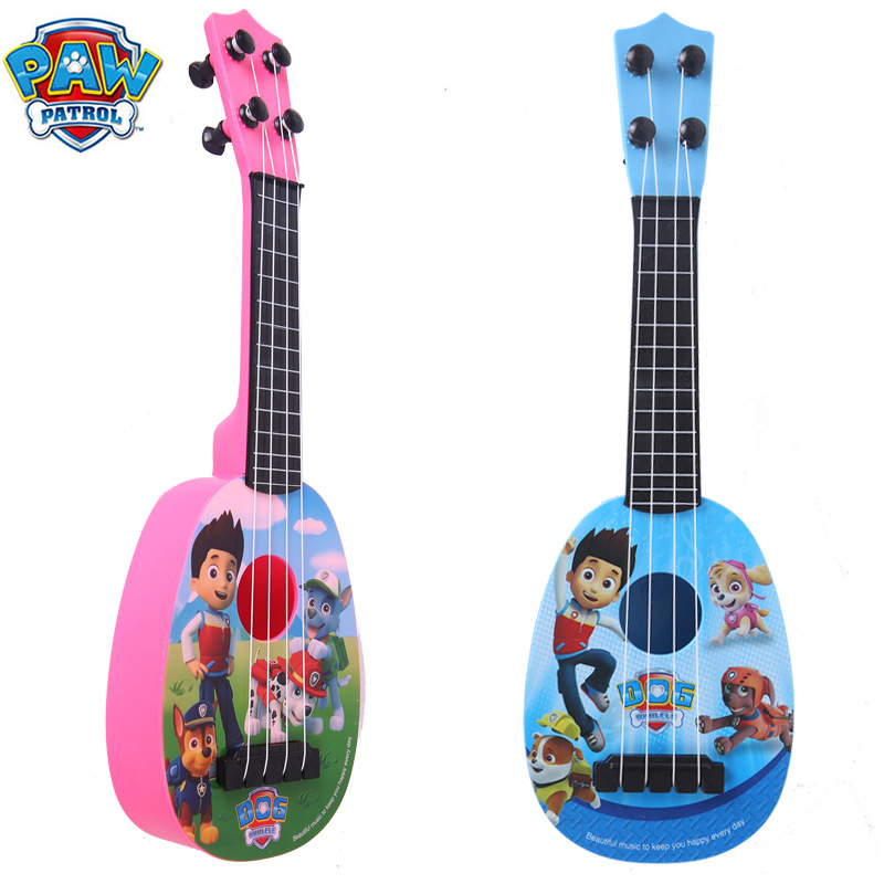 Original  Paw Patrol Learning Education Toy Cartoon Simulation Dog Team Guitar It Ukulele Drum Children's Musical Instrument