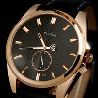 YAZOLE Sports Men Watch Luxury Top Brand Business Male Clock Quartz Wristwatch Leisure Fashion Leather Quartz