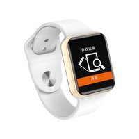Smart Watch for Bluetooth Men Women Smartwatch for iOS iPhone Xiaomi Huawei Sony Android Phone like an Apple Watch (Red button)