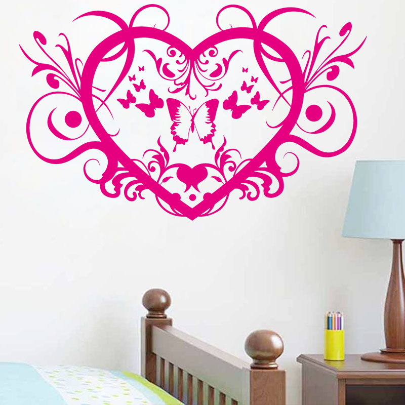 Butterfly Personalized Symbol Bedroom Wallpaper Decals Love Quotes Painting Wall Art Bedroom Decor Wall Stickers