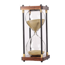30 Minutes Hourglass Sand Timer For Kitchen School Modern Wooden Hour Glass Sandglass Sand Clock Tea Timers Home Decoration Gift(China)