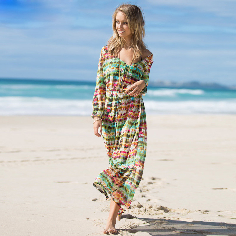 Tie Dye Maxi Dress Promotion-Shop for Promotional Tie Dye Maxi ...