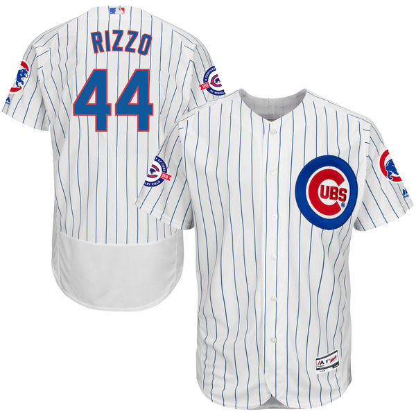 71c3b569f ... switzerland mlb mens chicago cubs anthony rizzo home white royal 44  flex base jersey with 100