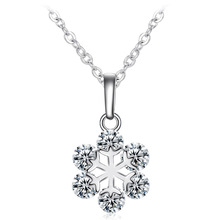 Fashion Collar Choker Snowflake Pendants & Necklace Crystal Rhinestone Cubic Zirconia Necklaces for Women Gift Jewelry N1173