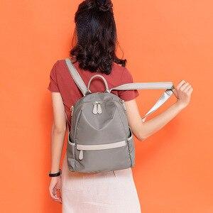 Image 5 - Atinfor à prova dwaterproof água anti roubo náilon pequena mochila feminina bolsa de ombro de viagem mochilas