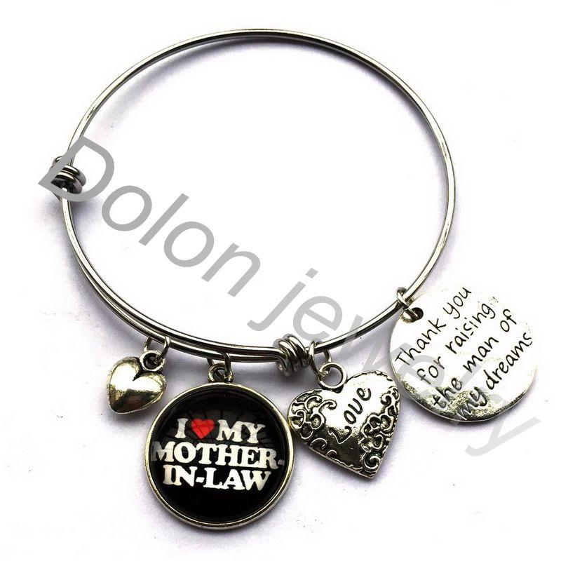 Us 249 Dank U Voor Raising De Man Van Mijn Dromen Bangle Beste Cadeau Voor Moeder Schoonmoeder Charm Armband Uitbreidbaar In Amulet Armband Van