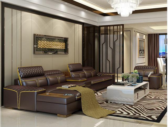 Luxury  L Shape Sofa w/ Corner Storage 5