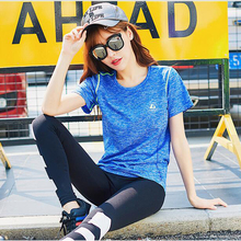 New Summer Women Sexy Yoga Tops Natural Colors Gym Fitness Breathable Sports T-Shirt Outdoor Workout Jogging Female Yoga Shirts
