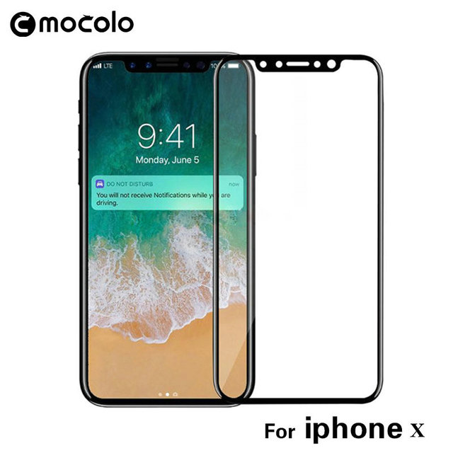 online store d4021 88dbc US $10.99 |Mocolo 3D full cover glass For iPhone x 9H 3D Curved Tempered  Glass screen protector for iphone X Full Cover 3D Tempered Glass-in Phone  ...
